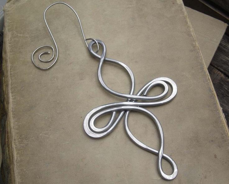 Celtic Infinity Cross Aluminum Ornament - Christmas Ornament. $15.50, via Etsy.