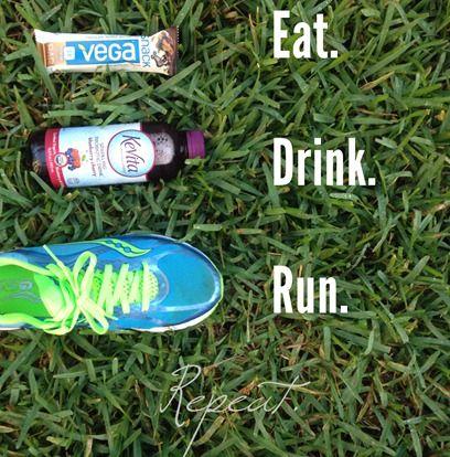Eat Drink Run - repeat Love my favorite gear - Vega, Saucony, Kevita