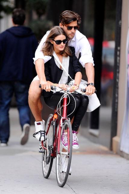 Olivia Palermo y Johannes Huebl en #bicicleta