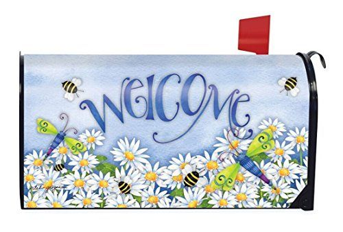 Dragonfly Welcome Summer Magnetic Mailbox Cover Daisies Dragonflies -- You can get more details by clicking on the image.