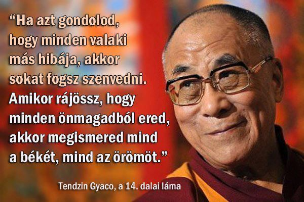 A dalai láma idézete mások hibáztatásáról. A kép forrása: OnlinePszichologia Hírportál És Adatbázis # Facebook