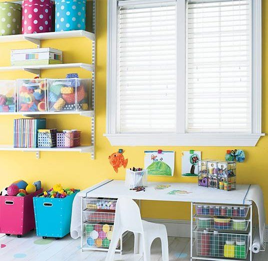 Visit us for more design ideas..Playrooms Ideas, Hats Boxes, Crafts Area, Rainbows Colors, Kids Room, Kids Crafts, Girls Playrooms, Plays Room, Storage Ideas