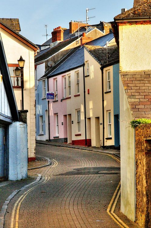 Lower Frog St? (by Piers Nye)  Tenby, Wales