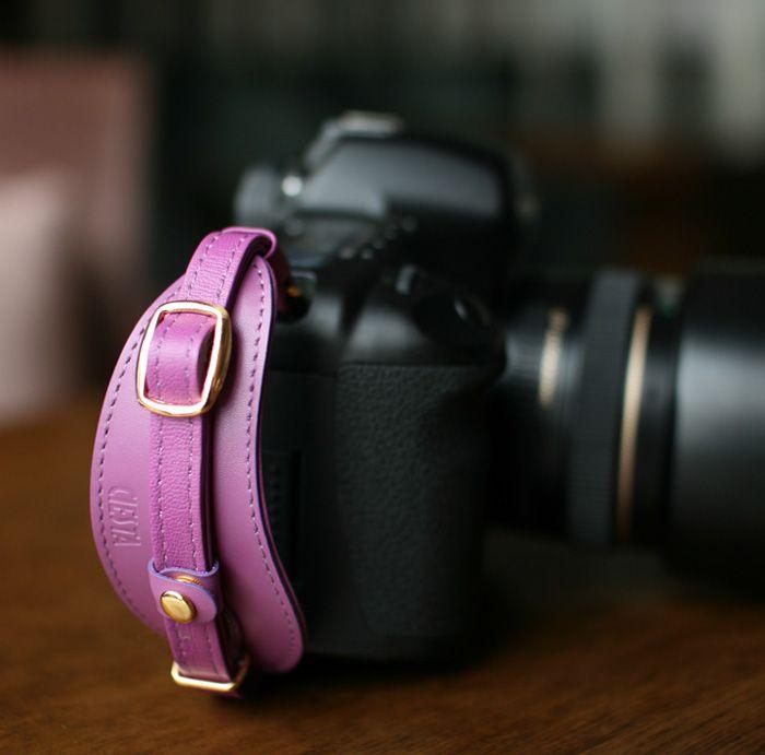 camera hand strap in color