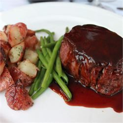 Filet Mignon with Rich Balsamic Glaze - let the meat sit out of the fridge for a bit..