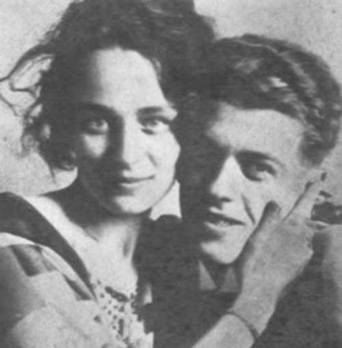 René Magritte and wife Georgette Berger.