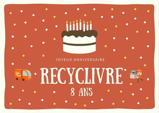 Joyeux Anniversaire #RecycLivre #BookLover #book #books #livres #livresque #librairie #recyclage #entrepreneuriat #entreprise #ESS #Paris #Bordeaux #Lyon #Lille #Nantes #Strasbourg #Toulouse