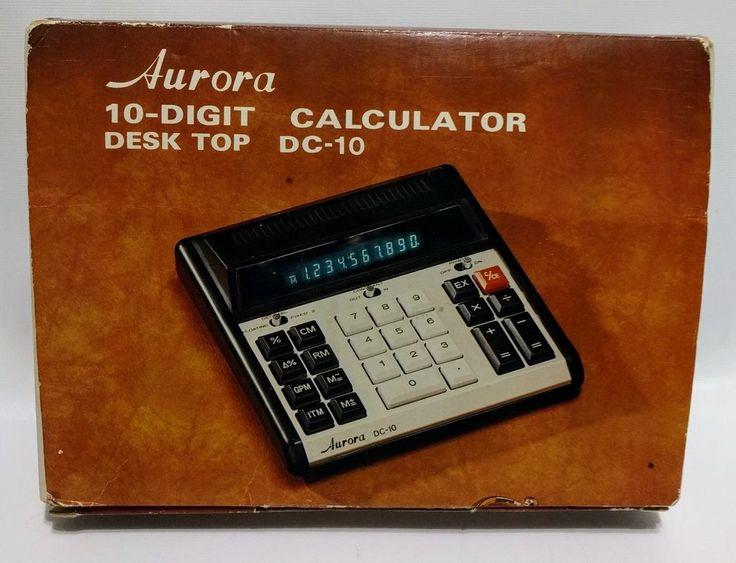 Vintage AURORA DC-10 Digit Desk Calculator Vacuum Fluorescent Display VFD Tubes #AuroraElectronics