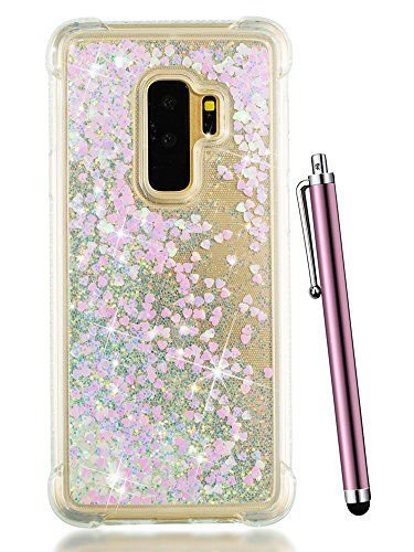 00c5beaddd CAIYUNL Glitter Liquid Bling Sparkle Quicksand Floating Clear Luxury Slim  Silicone Cute TPU Cover Girls Kids