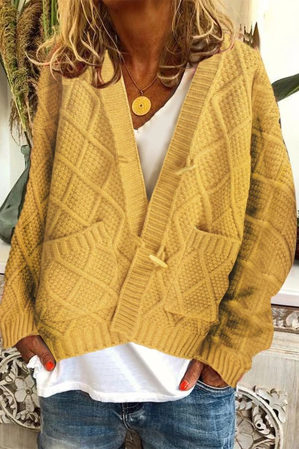Style Casual,Daytime Pattern Solid Detail Knitted,…
