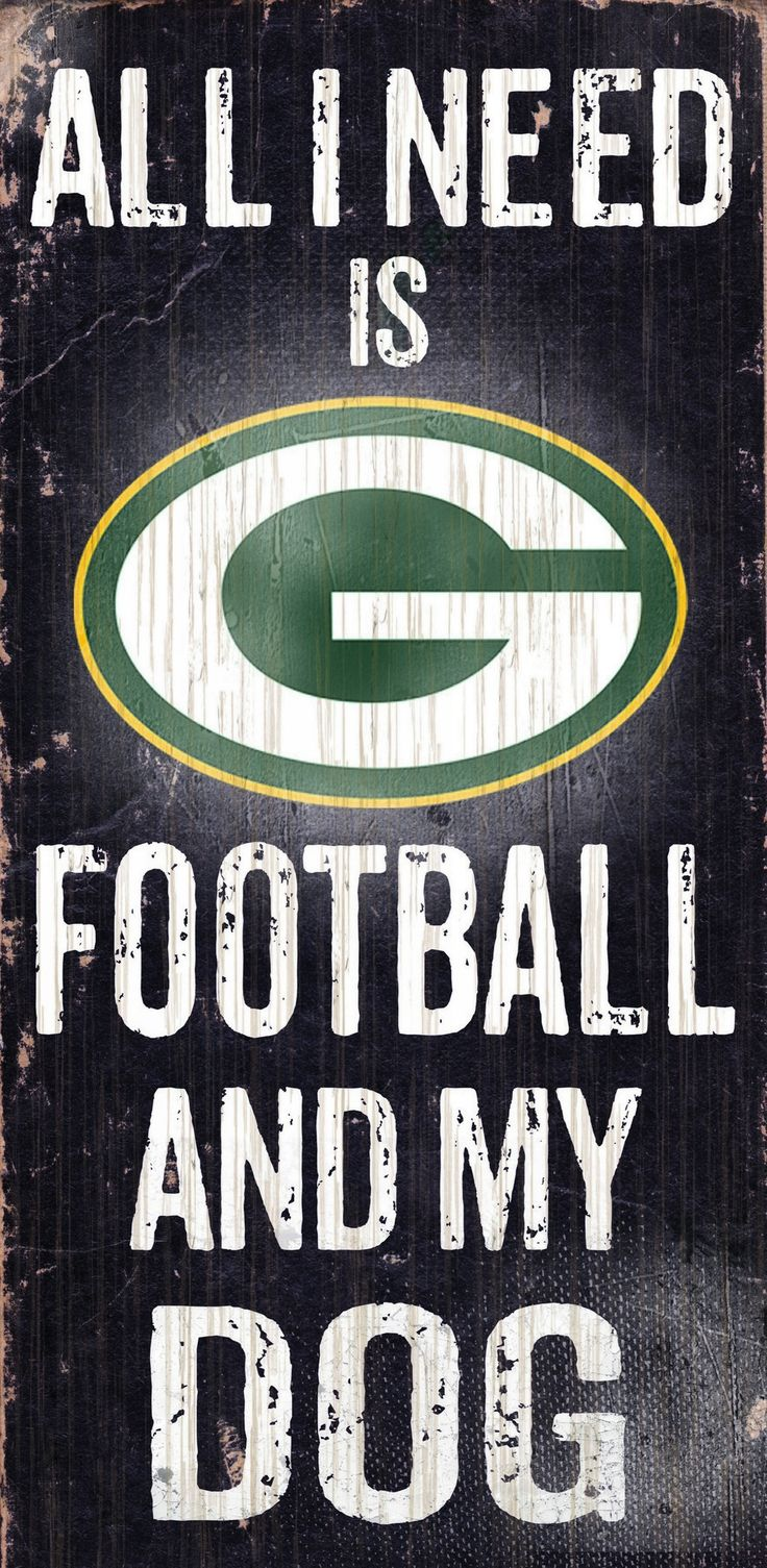 Green Bay Packers Wood Sign - Football and Dog 6x12