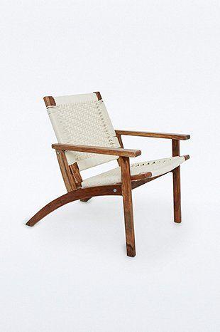 Chaise tissée blanche