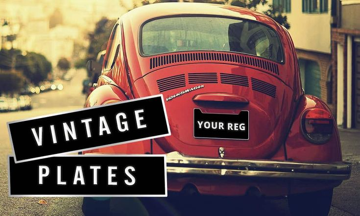Create your Vintage Number Plates online. Upload your own images, borders and side badges. Customize your plates to meet the pre 1973 number plate style.