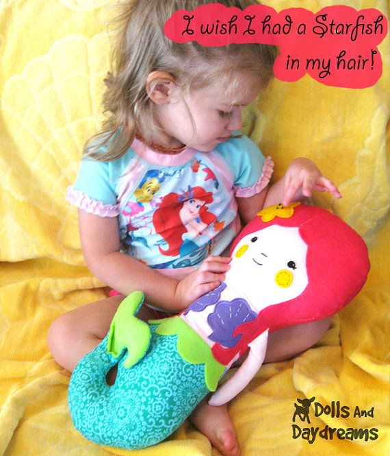 Mermaid Doll PDF Sewing Pattern Softie by DollsAndDaydreams