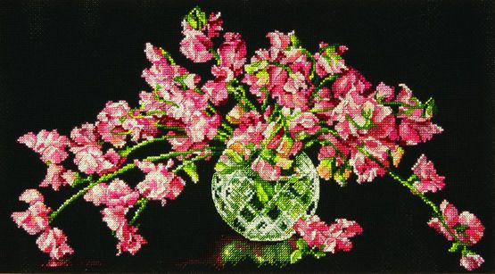 Sweet Pea Perfection Cross Stitch Kit £23.00 | Past Impressions | Dimensions