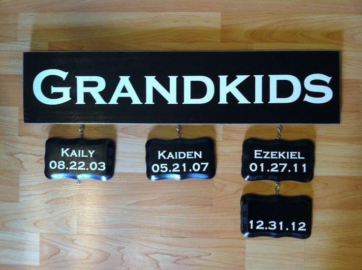 Grandkid's Birthday Board   Kayla Danelle