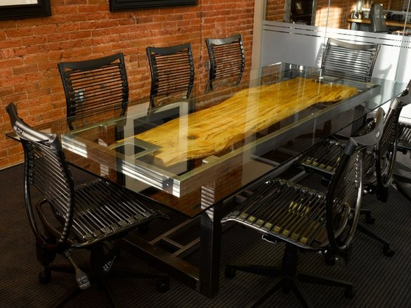 Conference Table by Where Wood Meets Steel