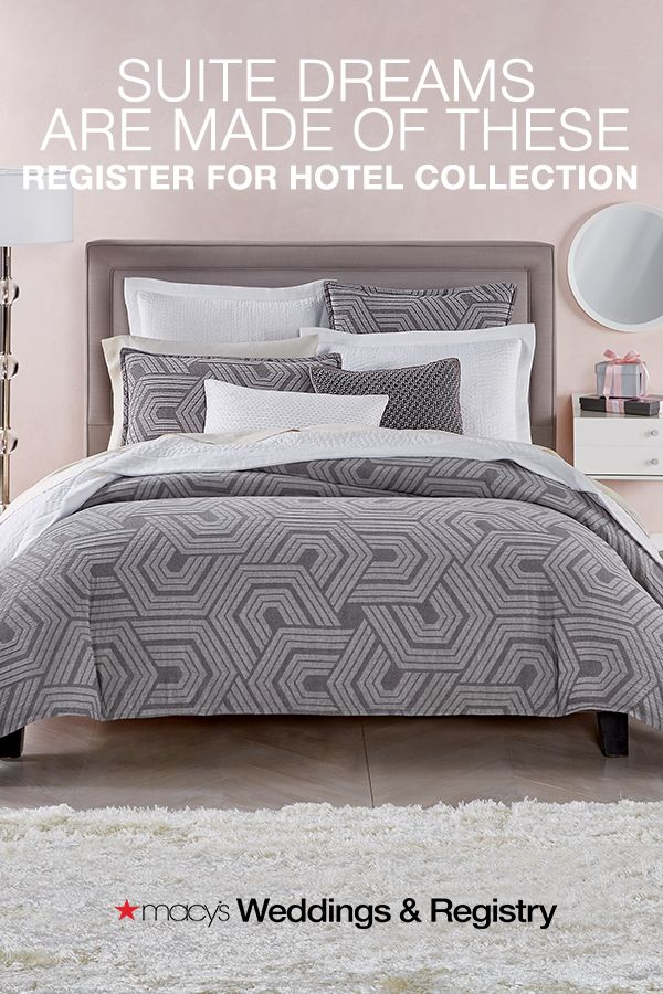 Hotel Collection Textured Hexagon Bedding Collection Created For