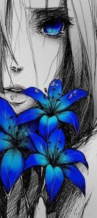 Аватар вконтакте Плачущая девушка с букетом синих цветов (© Arinka jini), добавлено: 15.02.2015 01:45