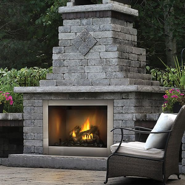 Napoleon Gss42cf Riverside Outdoor Gas Fireplace Woodlanddirect Com Outdoor Fireplaces Fireplace Units