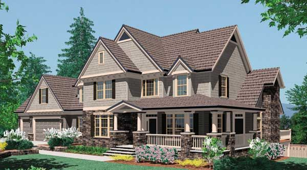 Not quite a cottage, but I love the blending of farm house and craftsman styles of this plan. My ultimate dream house if only my budget fit my dreams!