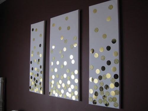 Super easy DIY canvas wall art using paper and a punch