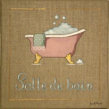 140 best images about peintures sur toile lin on pinterest for Peinture sur toile pour salle de bain
