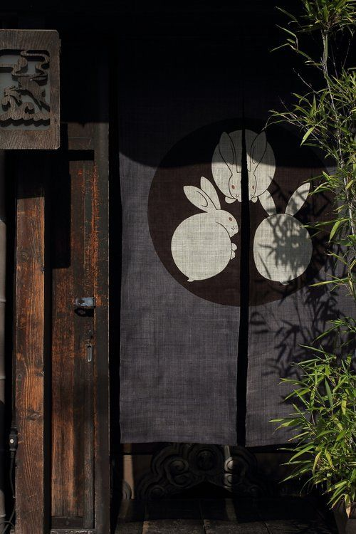 Noren - Japanese curtain across a doorway