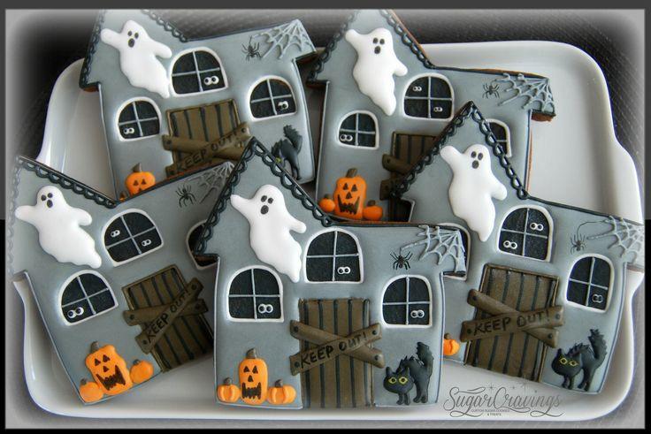 Haunted House Halloween cookies