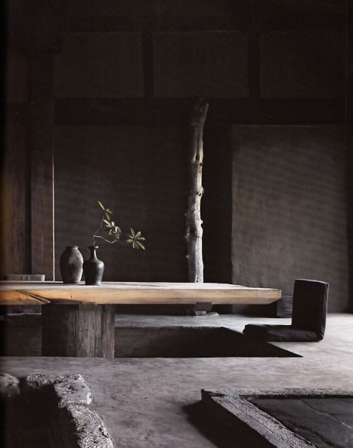 Wabi Sabi is akin to Zen Buddhism in that being surrounded by natural, changing, unique objects helps us connect to our real world and escape potentially stressful distractions. Wiki