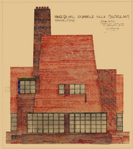 Architectual drawing, Egbert Reitsma, 1928 | Flickr - Photo Sharing!