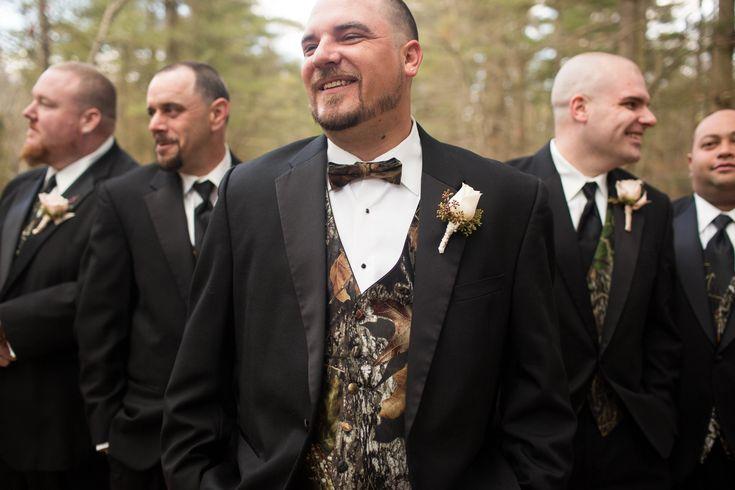 Groom. Groomsmen. Camo. Rustic. Wedding