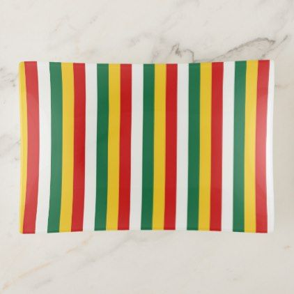 Suriname flag stripes lines pattern trinket trays - home gifts ideas decor special unique custom individual customized individualized