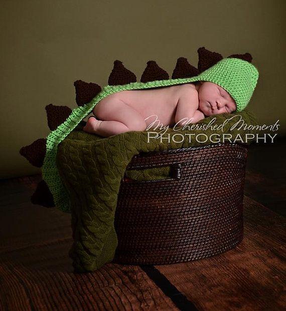 CUSTOM  Crochet Dinosaur Hat/Photo Prop by 22cutedesigns on Etsy, $35.00