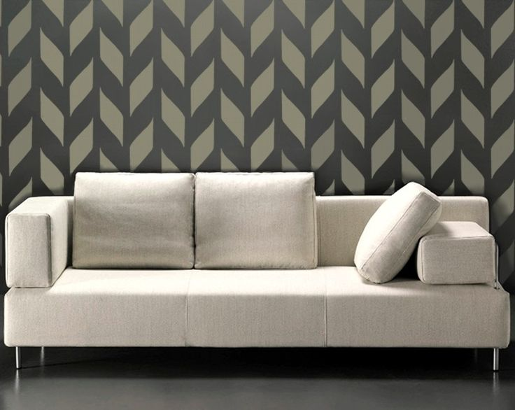 STENCIL for walls - Modern allover wall stencil - Woven Pattern - Reusable DIY Home Decor. $34.95, via Etsy.