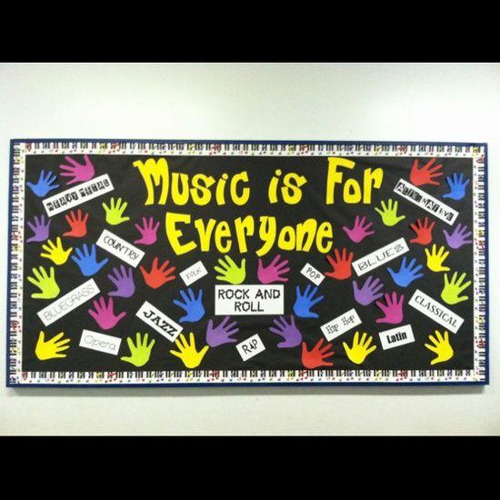 Music Is For Everyone Bulletin Board Idea