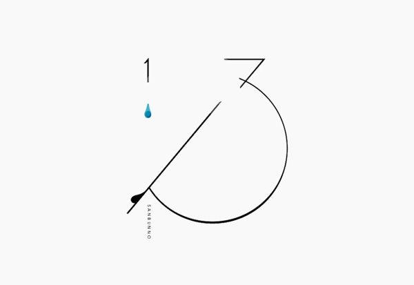 1/3 logo by masaomi fujita, via Behance