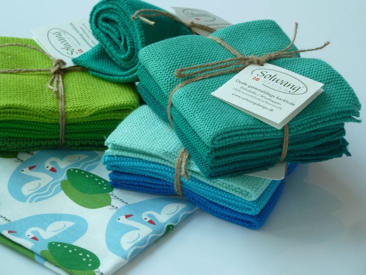 Geschirrtuch Halbleinen, Handtuch und Spültücher aus Baumwollstrick