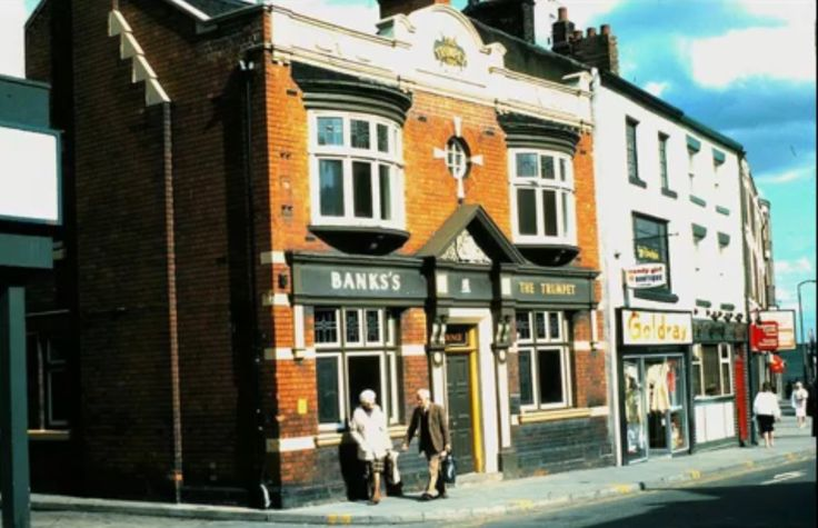 The demolished Trumpet Pub, Hanley in Parliament Row where McDonalds now stands.