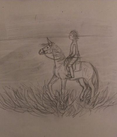 #my art #horse #rider #K.R.