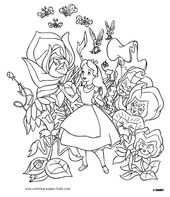 alice in wonderland disney coloring pages color plate coloring sheetprintable coloring