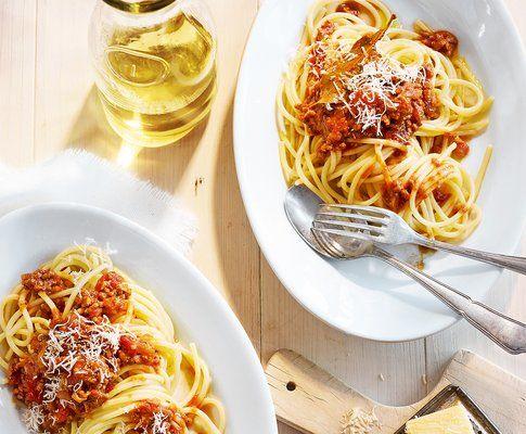 Spaghetti mit Hackfleisch-Balsamico-Sauce