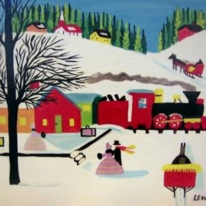 Train Station in Winter Maud Lewis