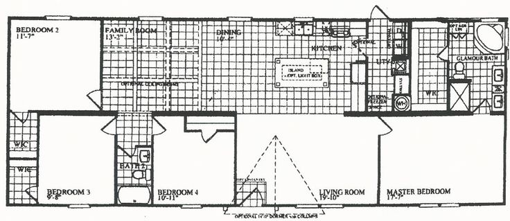 4 bedrooms 3 bathrooms  mobile home   28 x 72 4 bedroom 2 bath southern  energy homes of texas glamour bath 8       house plans   Pinterest    Marshall tx. 4 bedrooms 3 bathrooms  mobile home   28 x 72 4 bedroom 2 bath