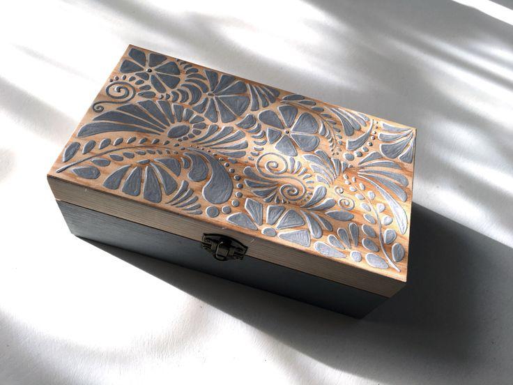 17 mejores ideas sobre cajas de madera pintada en - Cajas de madera pintadas a mano ...