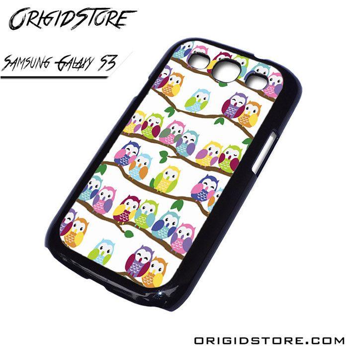 owl love stripes Samsung Galaxy case Samsung Galaxy S3 Samsung Galaxy S3 cover Samsung Galaxy