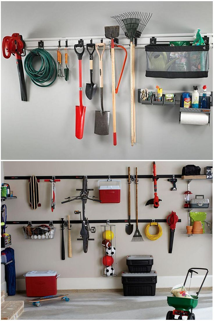 A wall organization system might be all you need to tame your garage storage problems. Check our wide selection of wall mounted hooks and other storage solutions before you tackle the garage. You'll have the tidy garage you've always wanted in no time.