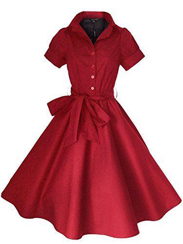 f7a55054746 Robe de SoireeVintage Rockabilly StyleRetro Années 50 Jupe SwingPin  upParfaite pour Soiree Dansante Taille 36-