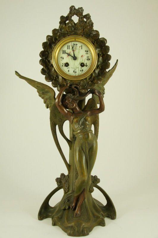 Прекрасная эпоха модерна - Антикварные часы и парные подсвечники в стиле модерн (Франция)