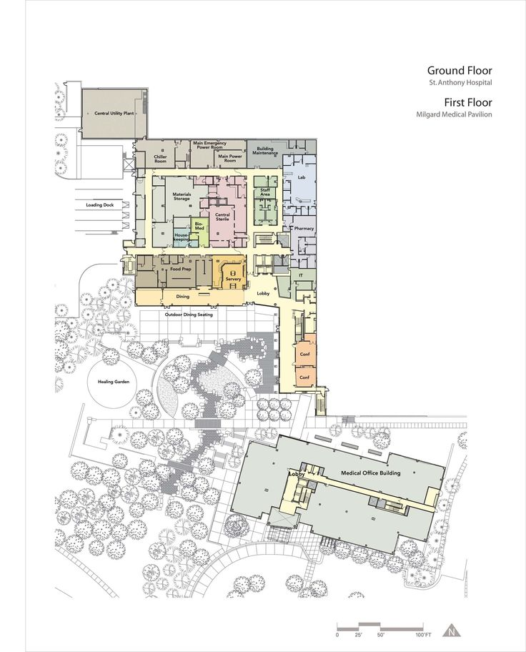 Image 13 of 14 from gallery of St. Anthony Hospital / ZGF Architects LLP. Plan